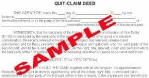 types-of-property-deeds-quitclaim deed sample