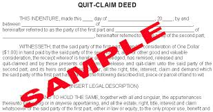 quitclaim deed sample