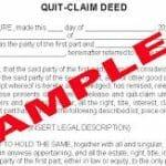 quitclaim deed sample