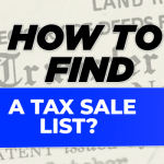 How to find a tax sale list